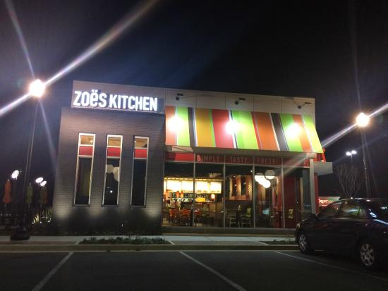 zoes kitchen outside night - Zoes Kitchen Okc
