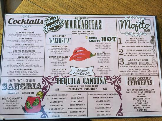 Menu - Picture Of Naked Taco, Miami Beach - Tripadvisor-5288