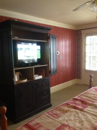 1740 House: View of TV from bed