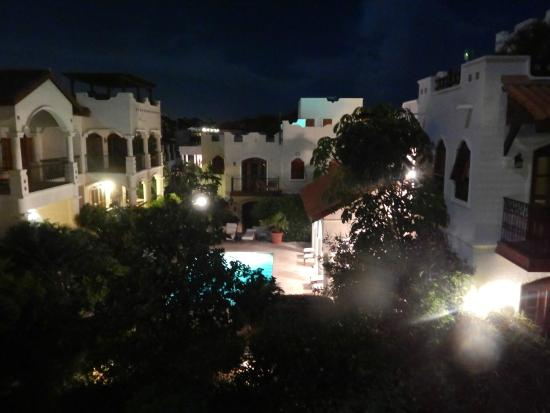 Cap Estate, St. Lucia: View from room 25 at night - Ocean View suite