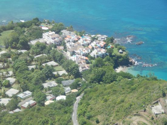 Cap Estate, Sta. Lucía: View from the helicopter - looking southwest