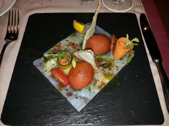 Restaurante Los Roques: sorbetto al pomodoro e wasabi