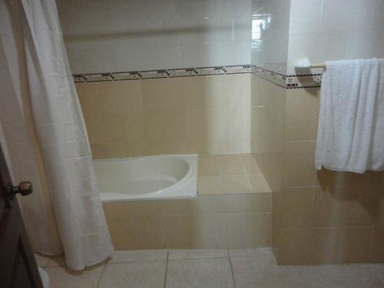 Bavaro Punta Cana Hotel Flamboyan: Banheira e chuveiro