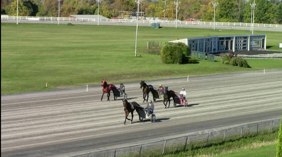 Race track at Vernon Downs Hotel.