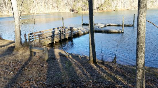 Smith Mountain Lake State Park: Docks shared by cabins