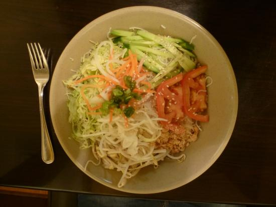 Veggie on Vermicelli - the only vegetarian dish they had