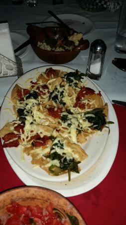 La Tortuga: Mexican pizza chorizo queso and spinach. The best#!!