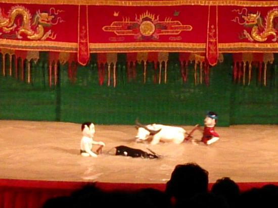 Water puppet show at Thao Dien Village : 水上人形劇