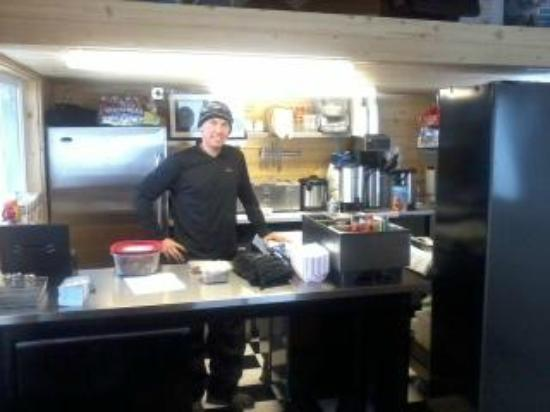 Black Kettle Burritos: Ben at work!
