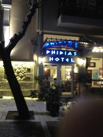 Phidias Hotel: İn a very good part of Athens