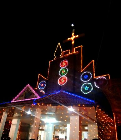 Vythiri, Inde : Thariode church.