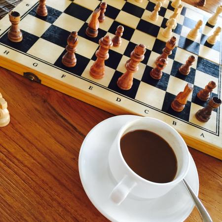 Chess And Coffee During The Free Tea Service 16