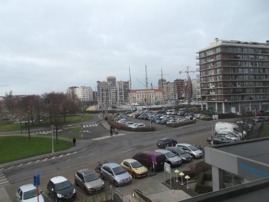 Hotel Melinda : vue sur le mercator (bateau)