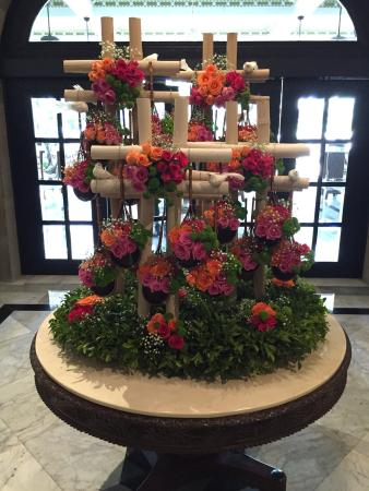 Beautiful Flower Arrangement In The Lobby Area Picture Of The Taj