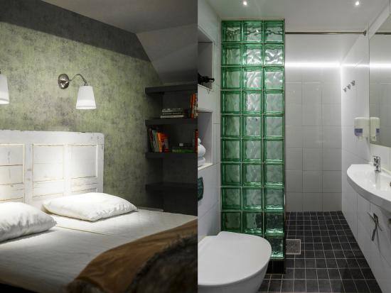 Skanstulls Hostel: Double-room ensuite / bathroom