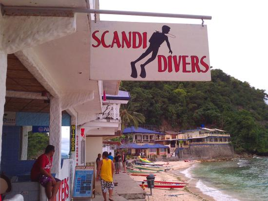 Scandi Divers: This is the front area of the resort where you get off the water taxi, and enter the dining area