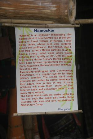 Nameri Eco Camp: Information