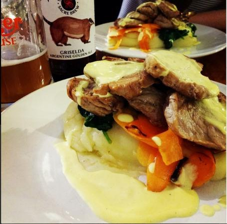 The Hungry Bistro: Pork main & local craft beer.