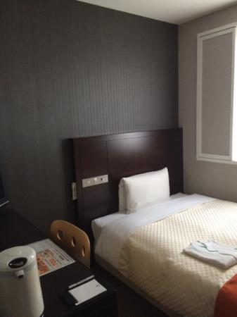 Vessel Inn Hiroshima-Ekimae : Single room on 9th floor February 2015 CB