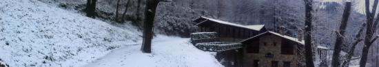 Oiartzun, Espanha: El albergue nevado