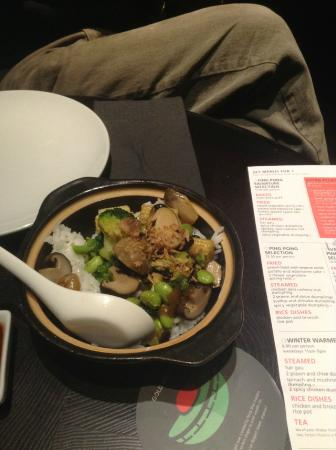 Ping Pong - Westbourne Grove: Rice dish from set menu