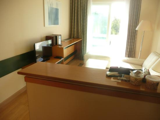 The Blazer Suites Hotel: view from kitchen to room 46