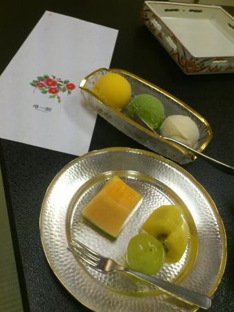 Hotel Tsubakikan: 坊っちゃん団子をイメージしたアイスクリーム