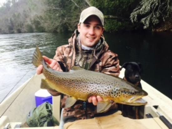 Guide Teo Whitlock With A Beautiful Brown Picture Of