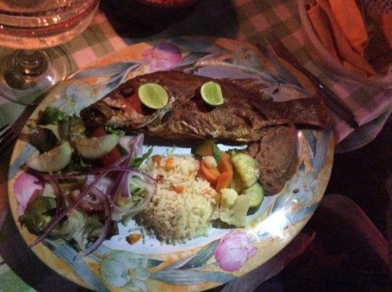 Restaurant el Manguito: Guachinango (red snapper) Feb 2015