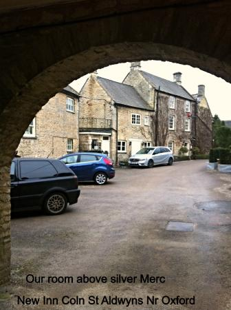 The New Inn Coln: Further view of Hotel when leaving car park