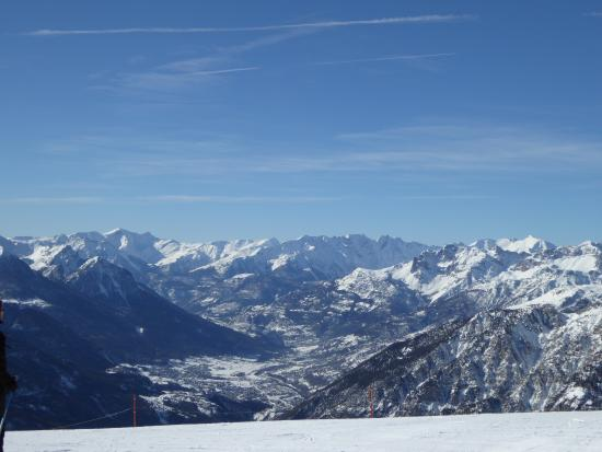 Montgenevre Ski Resort: view from Serre Chevalier