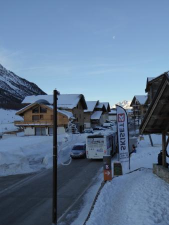 Montgenevre Ski Resort: View from apartment down to the town centre