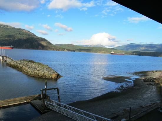Oceanfront Suites at Cowichan Bay : All rooms have this view