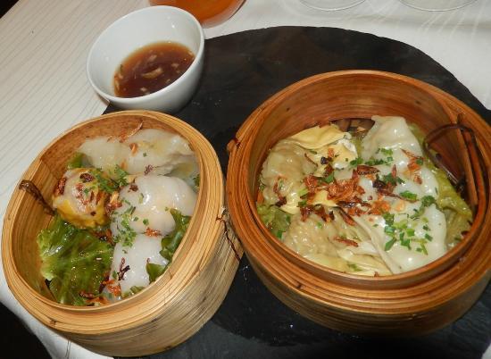 Asia Restaurant : Bouchées vapeur porc, crevette, gingembre, coriande... saveurs subtiles à gogo !