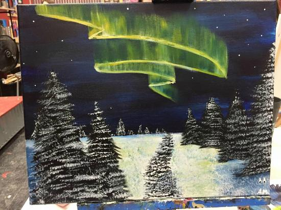 Painting with a Twist: North Skies