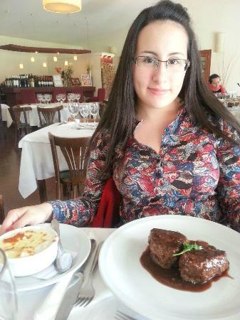 Alta Gracia Golf Club Restaurant : Lomo a la pimienta con papas a la crema