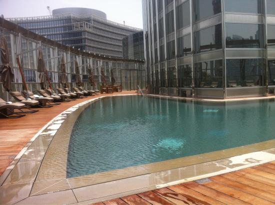 Au pied de l 39 armani h tel la burj khalifa picture of for Pool and spa show dubai