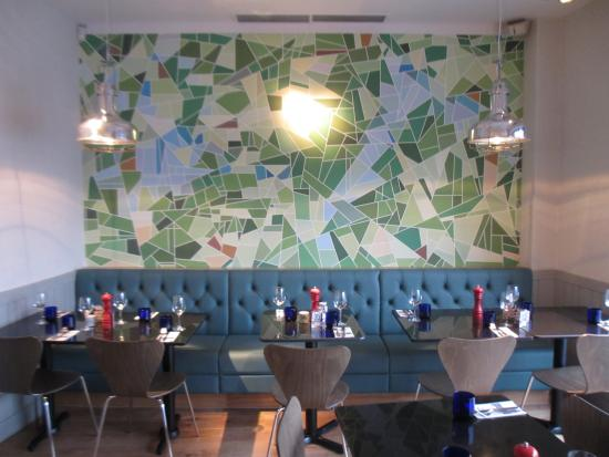Booth Seating And Our Abstract Golf Course Feature Wall
