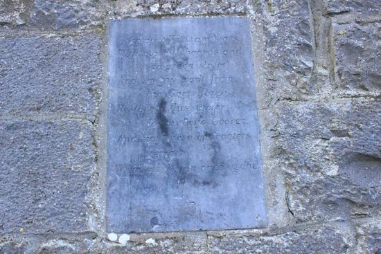 Thoor Ballylee : Inscription at Thor Ballylee
