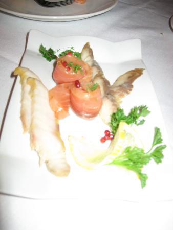 Restaurant Ermitage: Fish appetizer