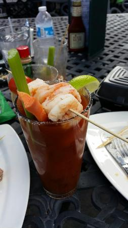Grace O'Malley's Irish Pub: Spicy shrimp Bloody Mary.