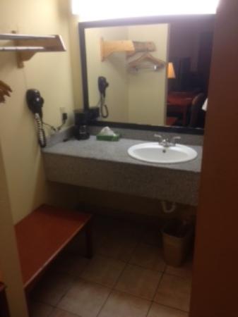 Rodeway Inn Charlotte \ Downtown: sink area