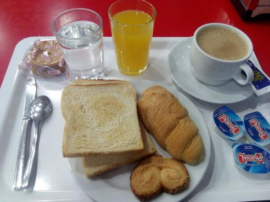 Albergue Juvenil Madrid: Desayuno
