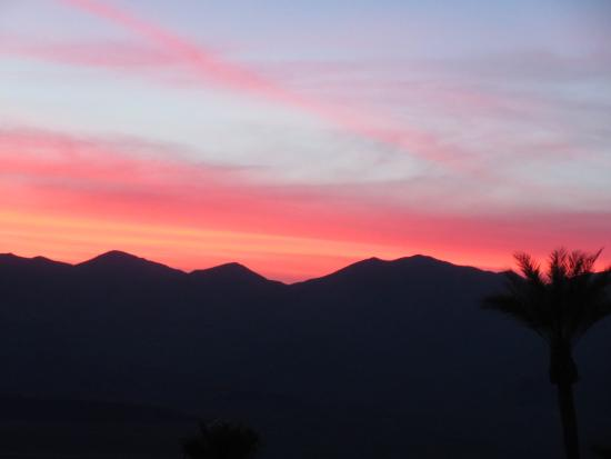 The Inn at Furnace Creek Dining Room: sunset from the terrace Feb 2015