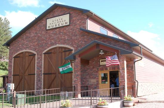 Hill City, SD: South Dakota State Railroad Museum Building- right next door to 1880 Train