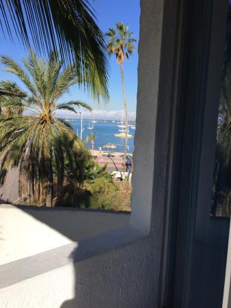 Hotel Mediterrane: View from the little balcony!