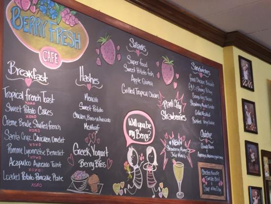 Berry Fresh Cafe: The board