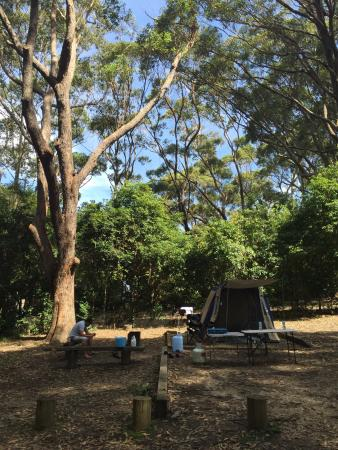 Camping At Pebbly Beach