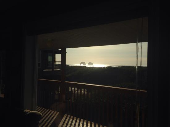 The Getaway: View of twin rocks from room 10
