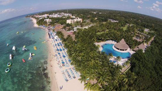 Ocean Beach Cozumel Aerial Photo Of The Club And Surrounding Resorts